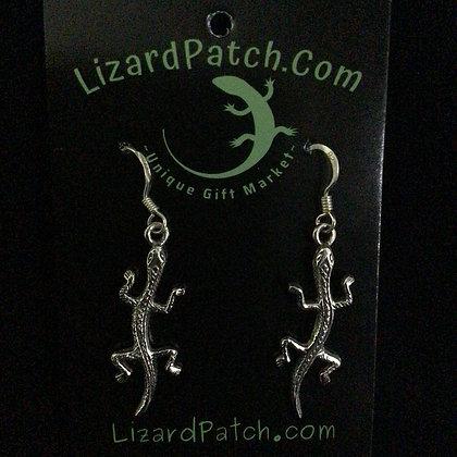 .925 Large Textured Lizard Earrings