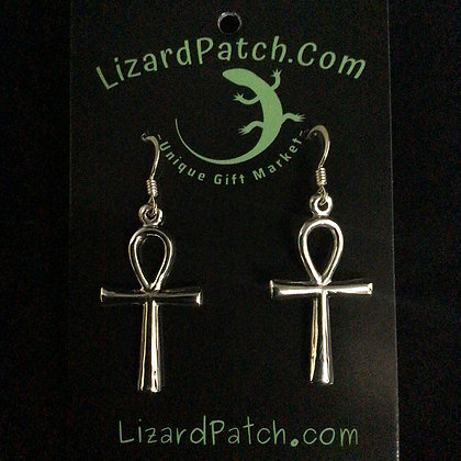 .925 Ankh Earrings