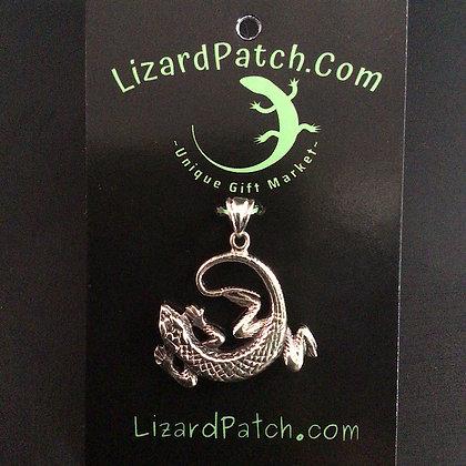 .925 Curled Textured Lizard Pendant