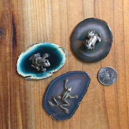 Triple Deal Frog Figurines