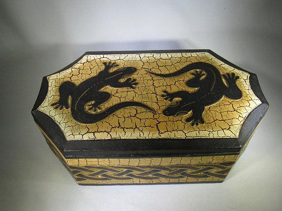 Celtic Double Lizard Wooden Box