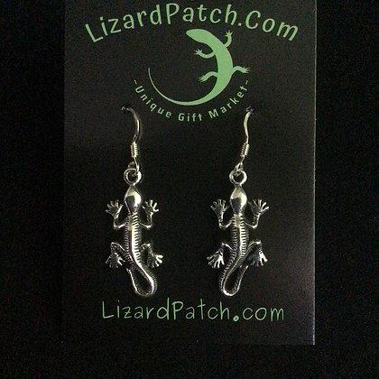 .925 Gecko Dangle Earrings