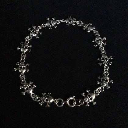 .925 Skull and Crossbones Bracelet