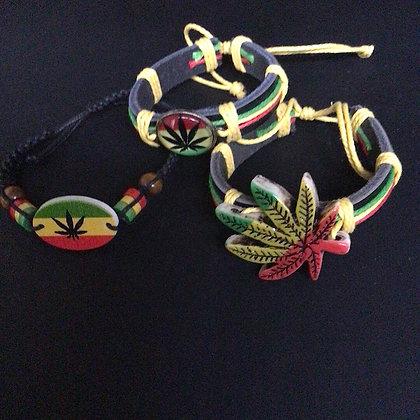Triple Deal Rasta Bracelets