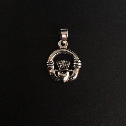 .925 Celtic Claddagh Pendant