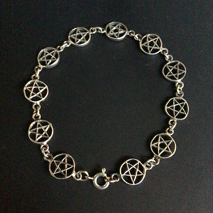 .925 Pentacle Bracelet