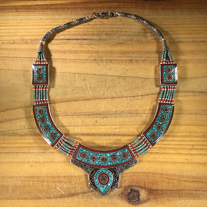 Nepalese Inlay Necklace