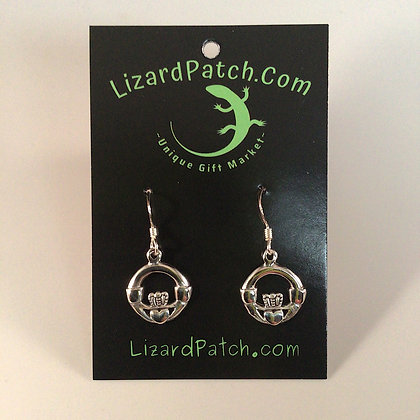 .925 Thick Celtic Claddagh Earrings