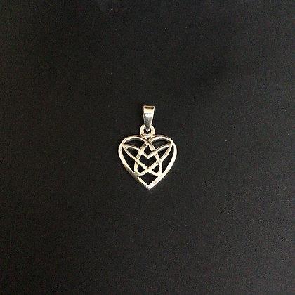 .925 Celtic Heart Pentacle