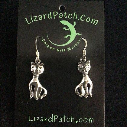 .925 Cat Earrings