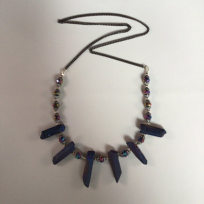 Multi Color Titanium Quartz Necklace