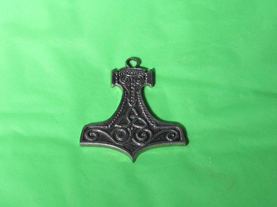 Pewter Thor's Hammer w/Tri Design