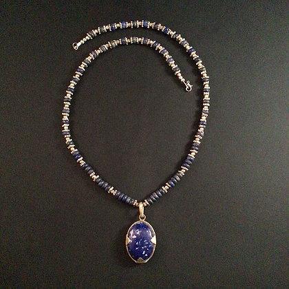 Lapis Lazuli Pendant and Necklace
