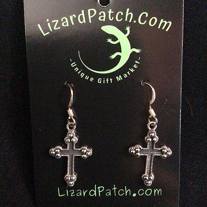 .925 Cross Earrings