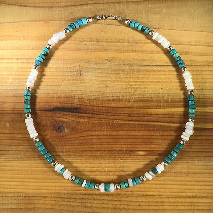 Turquoise, Moonstone and .925 Sterling Silver
