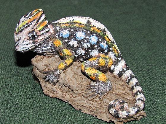 Small Cast Resin Chameleon Figurine