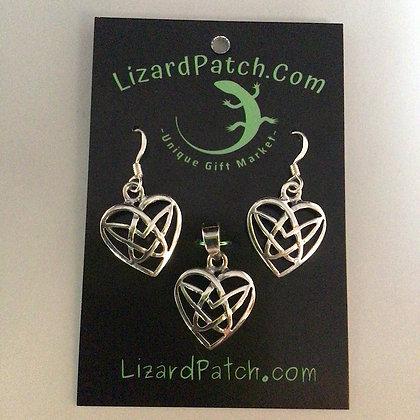 .925 Celtic Pentacle Heart Set