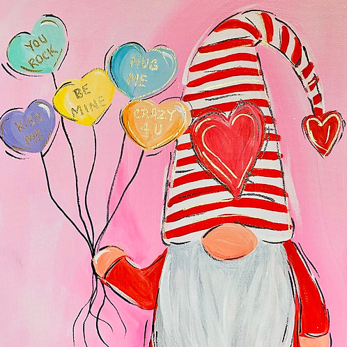 WHIMSY VALENTINES GNOME PAINT NIGHT