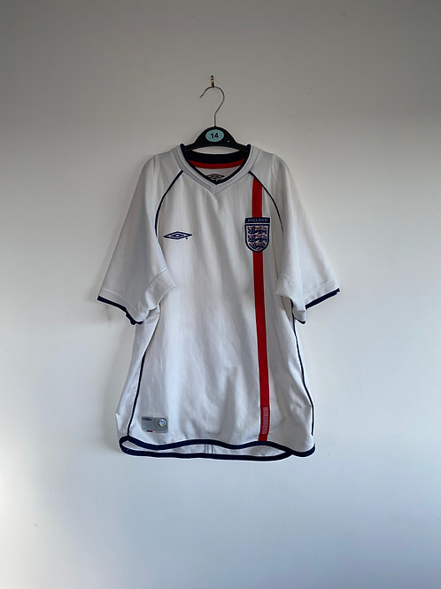 England Home Shirt 2001/03