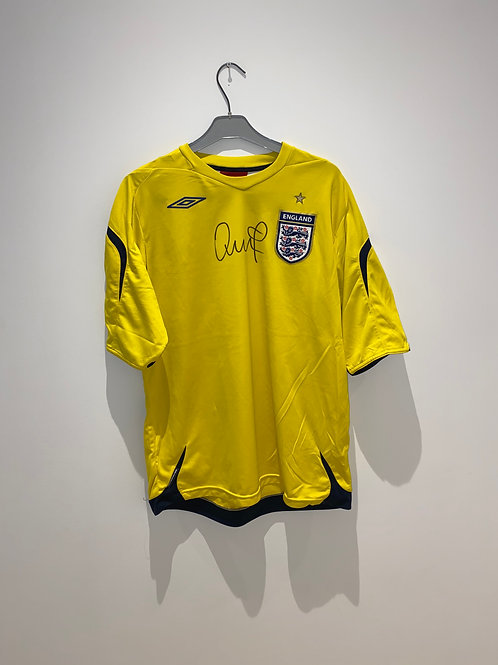 Unknown Signed England Goalkeeper Shirt 2006/08