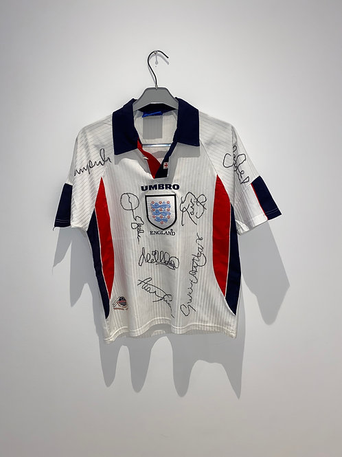 Signed England Home Shirt 1997/99