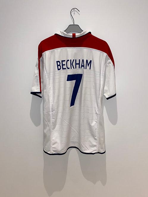 Beckham England Home Shirt 2003/05