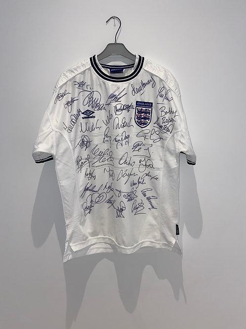 Signed England Home Shirt 2000
