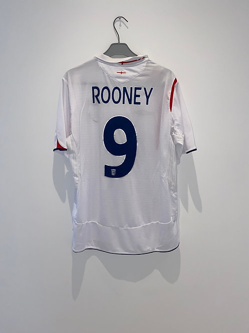 Rooney England Home Shirt 2006 vs Trinidad & Tobago