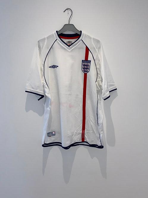England Home Shirt 2001/03