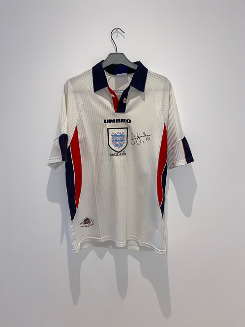 Signed Beckham England Home Shirt 1998