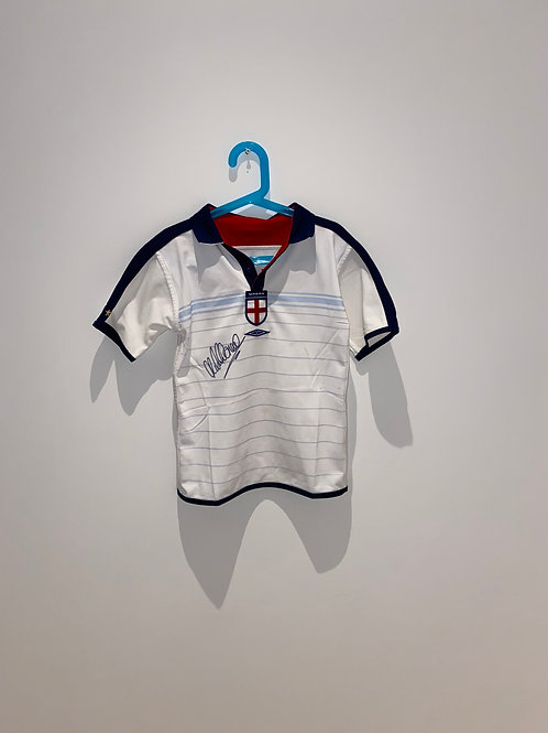 Signed Michael Owen England Home Shirt 2003/05