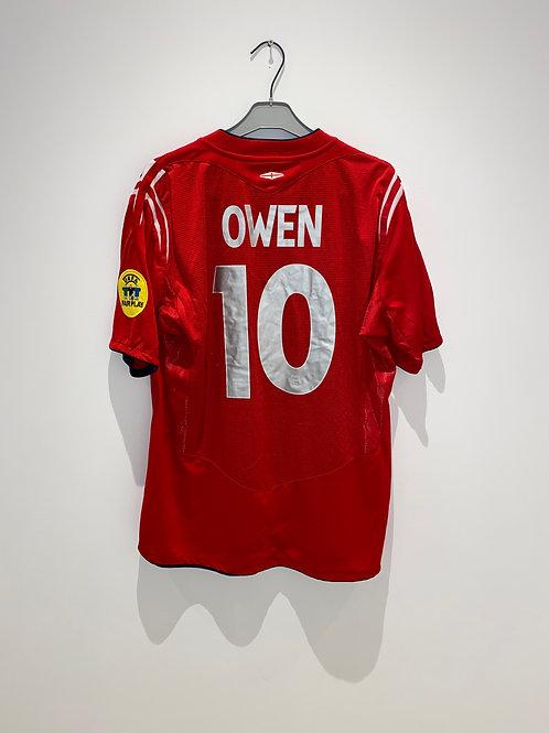 Owen England Away Shirt vs Croatia 2004