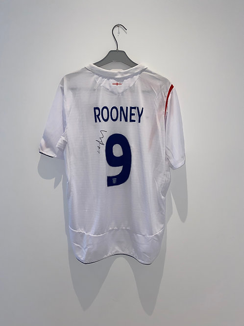 Signed Wayne Rooney England Home 2005/07
