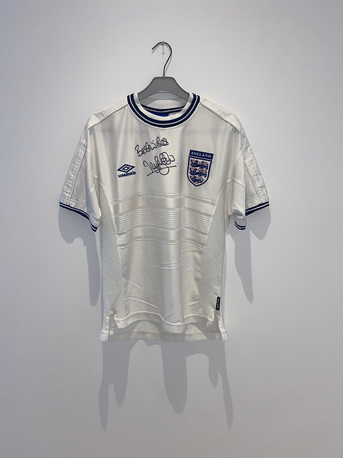 Signed McManaman England Home Shirt 1999/2001