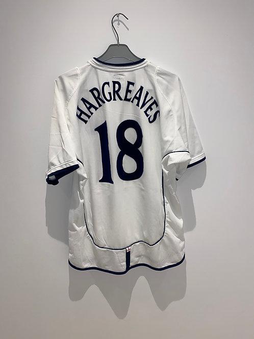 Hargreaves England Home Shirt 2001/03