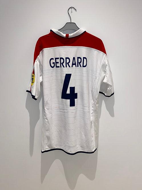Gerrard England Home Shirt vs France 2004