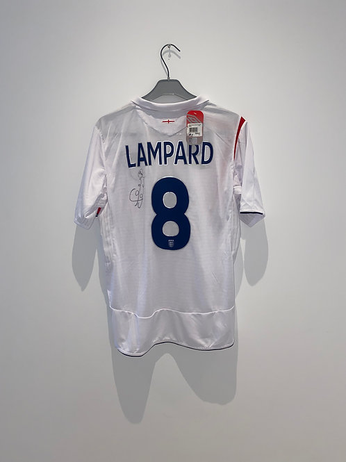 Signed Lampard England Home Shirt 2005/07