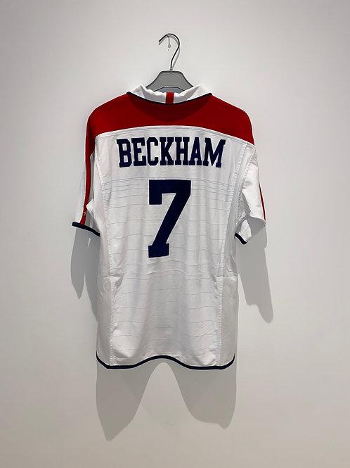 Beckham England Home vs Portugal 2004