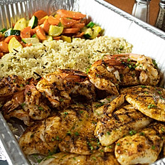 Fish and Shrimp Family Style serves 5