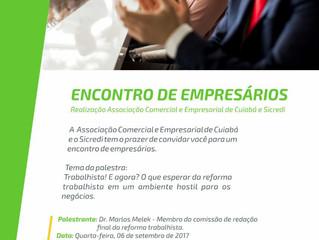 """Mestre de Cerimônias no """"Encontro de Empresários - SICREDI e ACC - Associação Comercial e Empre"""