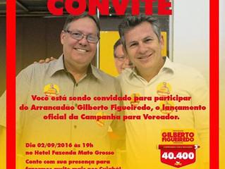 Lançamento Oficial da Campanha para Vereador Gilberto Figueiredo - Arrancadão 40.400