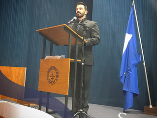 Mestre de Cerimônias em evento de Colação de Grau do Curso de Direito do ICEC e IES-MT.
