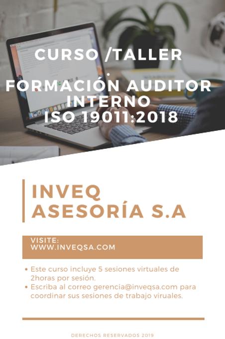 Curso Para Formación de Auditores Internos según ISO 19011:2018
