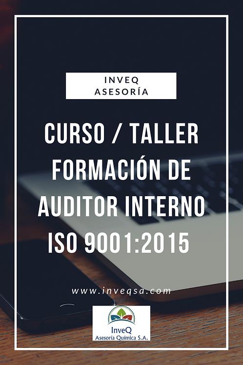 Curso/Taller Virtual Formación Auditor Interno ISO 9001:2015