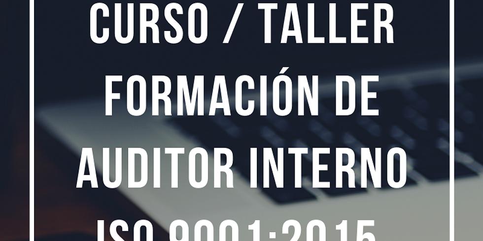 Curso Virtual Formación Auditor Interno ISO 9001:2015