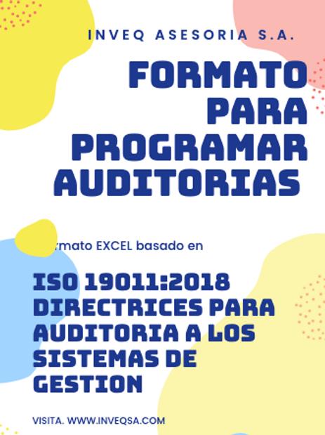 Formato Para Programar Auditorias Eficientes