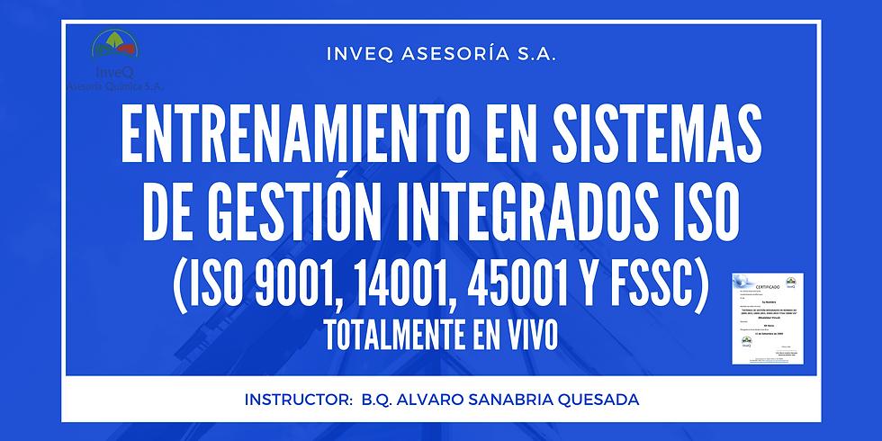CURSO SISTEMAS DE GESTIÓN INTEGRADOS ISO 9001/14001/45001 Y FSSC 22000
