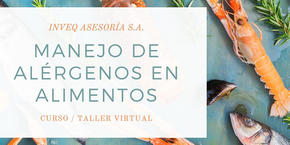 Curso Virtual Sobre Manejo de Alérgenos en Alimentos.