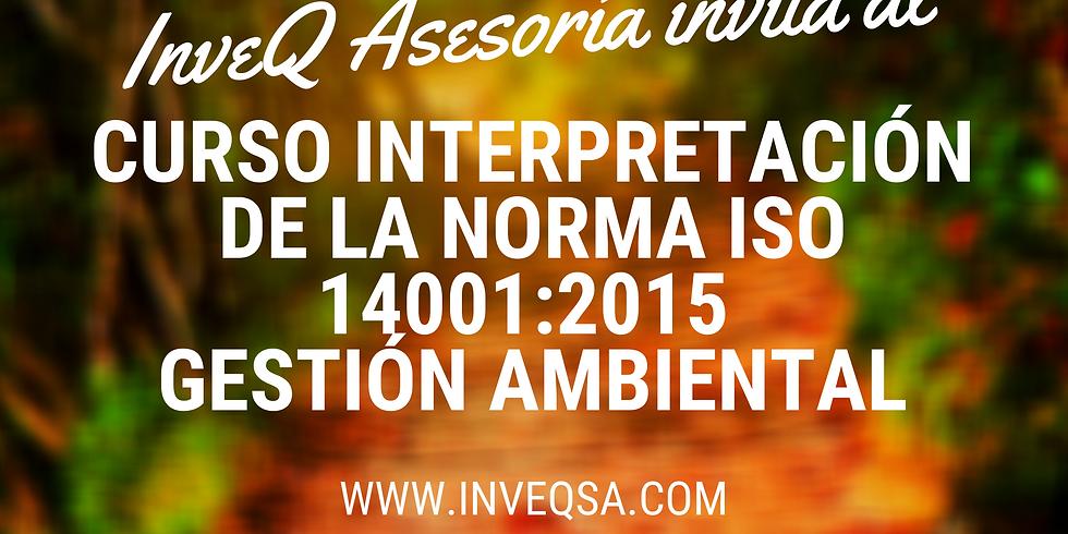 Curso Virtual Interpretación ISO 14001:2015 Gestión Ambiental