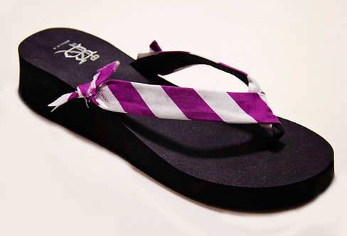 MADALYN (Oxford Stripe) Purple/White